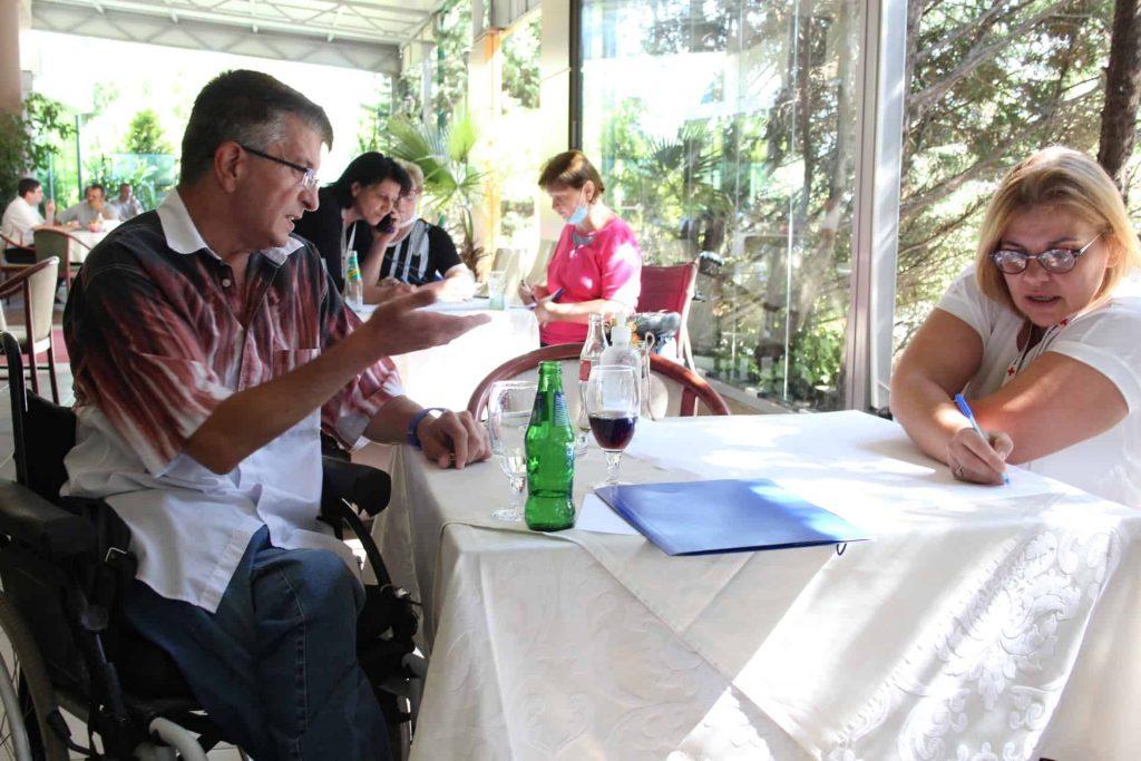 од обука за лицата со хендикеп на тема Независно живеење