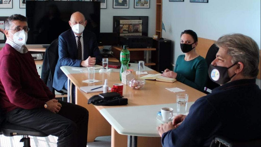 Средба со ЕУ Амбасадорот г- дин Давид Гир со претставници од Полио Плус