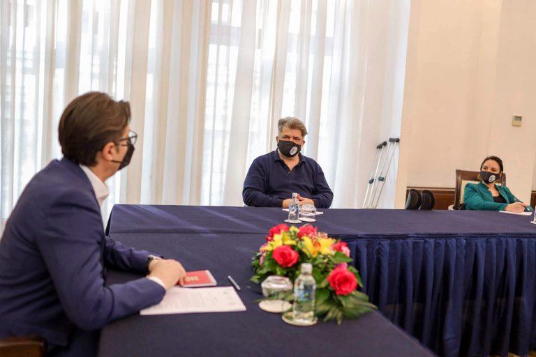 Работна средба со претседателот на државата – Стево Пендаровски